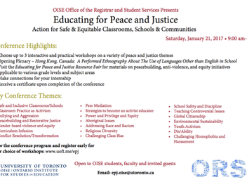 #86: Educate for Peace and Justice