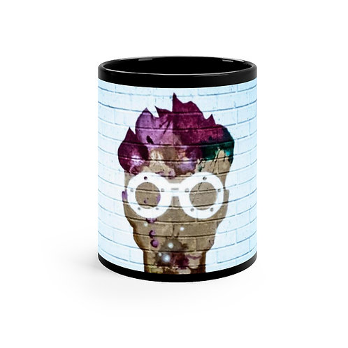 Black mug Face 11oz