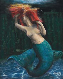 Mermaid-Light-From-Above acrylic 16x20 2