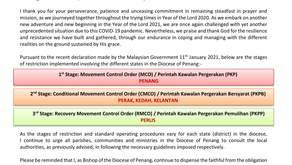 2021 Movement Control Order Implementation in the Diocese of Penang