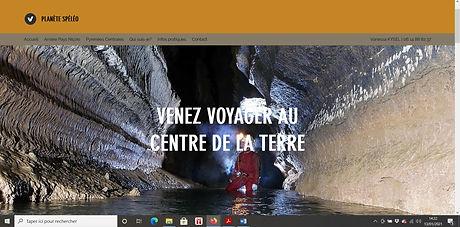 Impression écran site Planète Spéléo