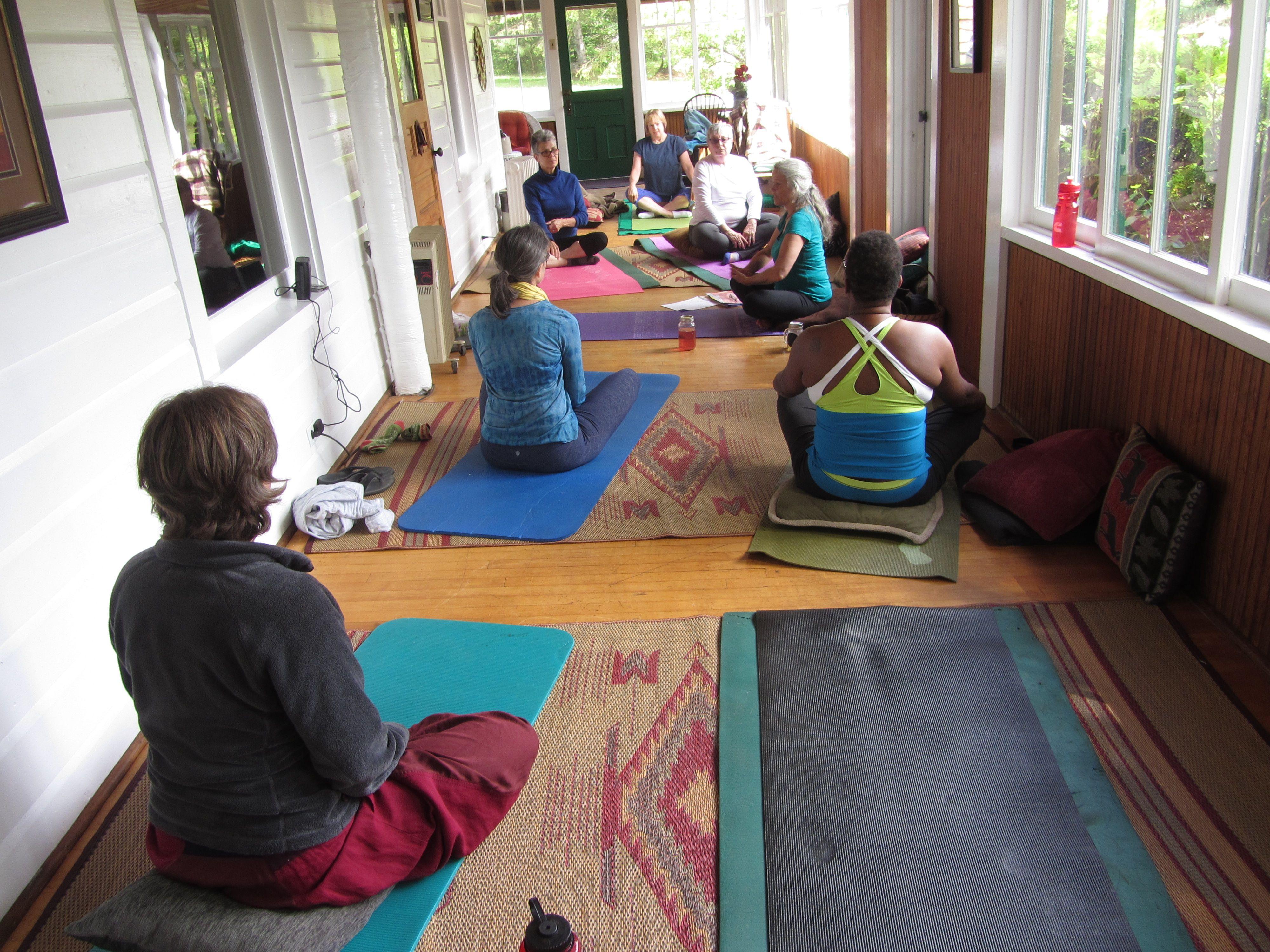porch yoga