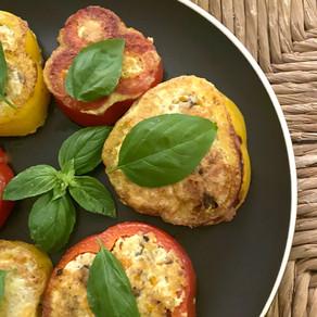Gefüllte Paprika mit Tofu – 파프리카전