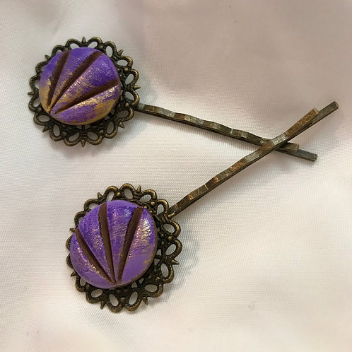 Purple concha pins