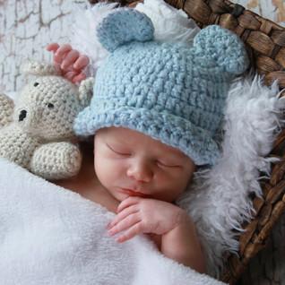 Newborn Teddy Bear Portrait