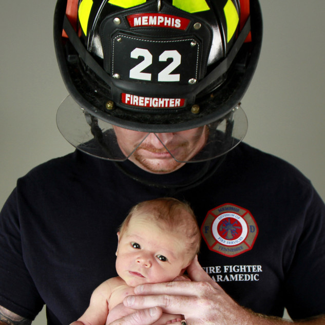 Newborn Firefighter Session