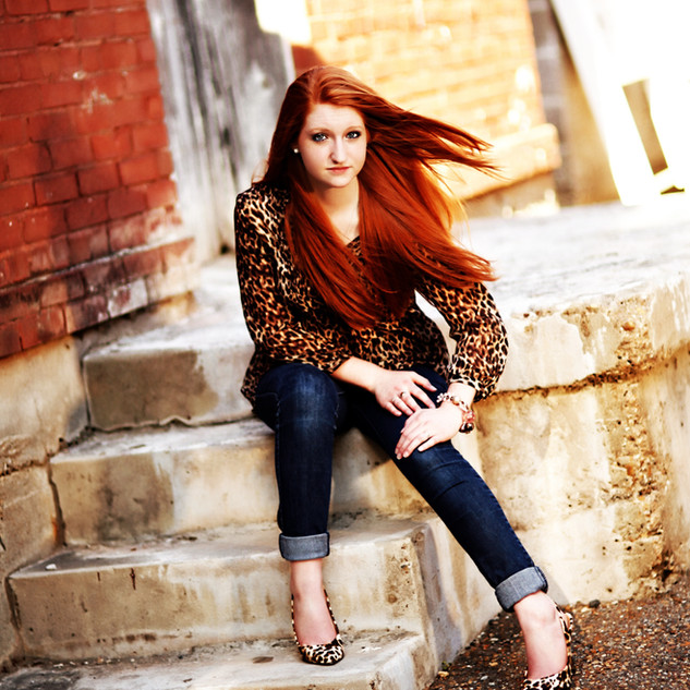 Senior Portrait in Grunge Setting