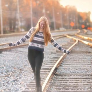 Senior Train Track Portrait