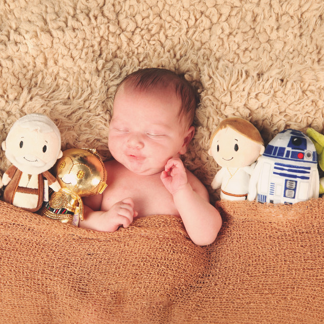 Newborn with Star Wars Props