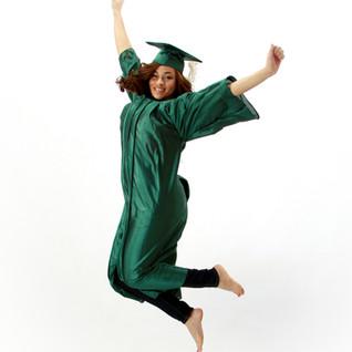 Senior Cap & Gown Jump Portrait