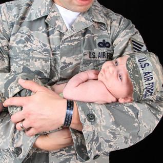 Newborn Air Force Session