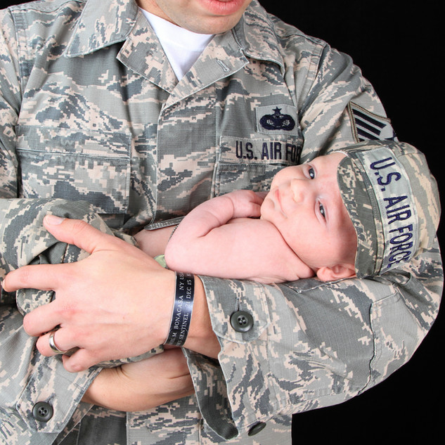 Newborn Air Force Session