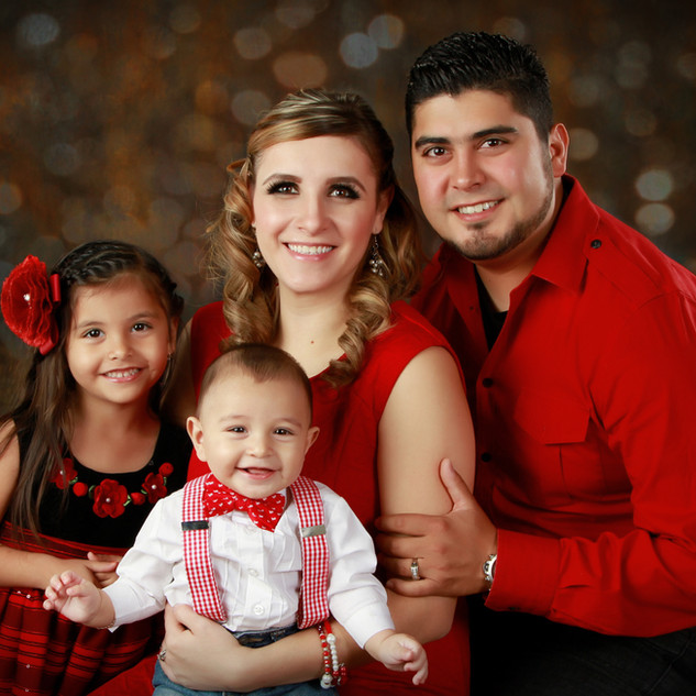 Glitzy Family Portrait