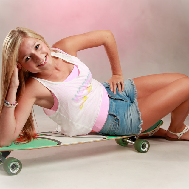 Senior Portrait on Skateboard