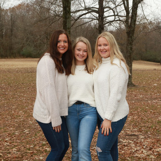 Teenage Sisters Winter Portrait