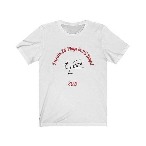 T-shirt: I wrote 28 Plays TLC