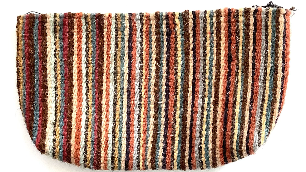 Hand woven wool pouch