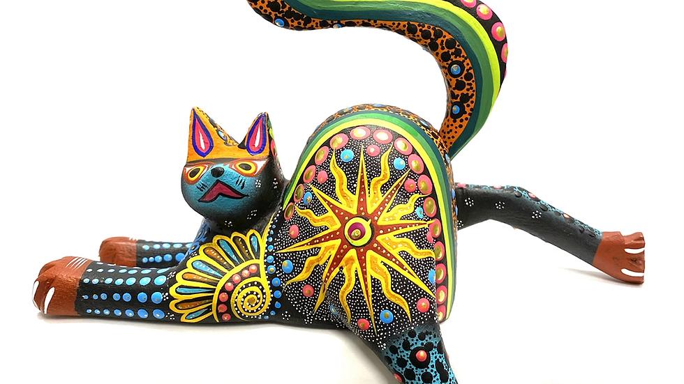 Black cat Oaxacan Alebrije
