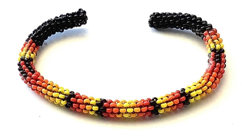 Navajo beaded cuff bracelet