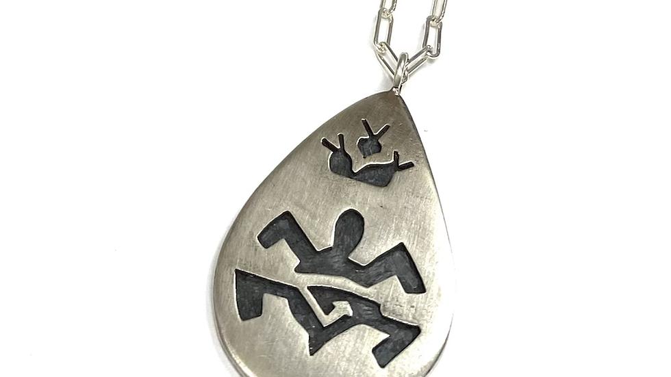 Hopi silver pendant