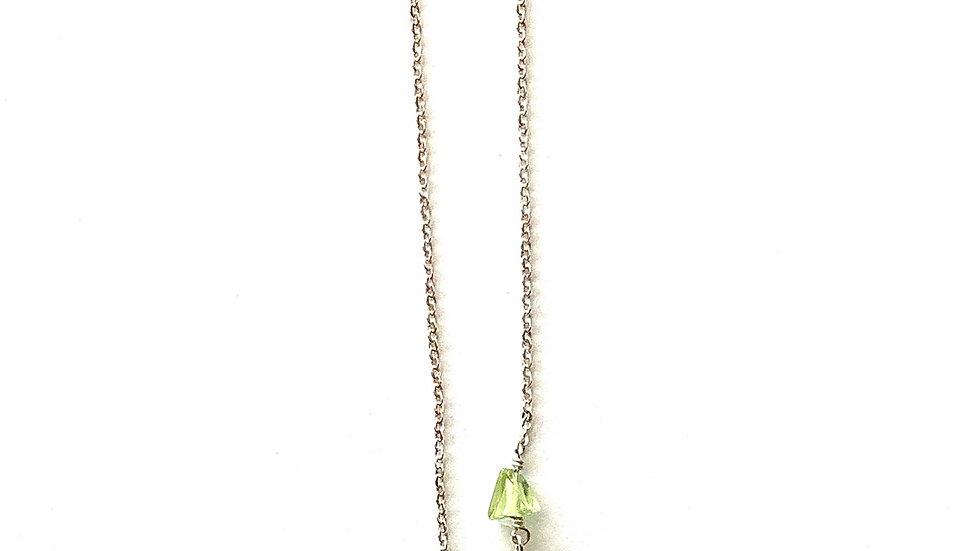 2 peridot stone necklace