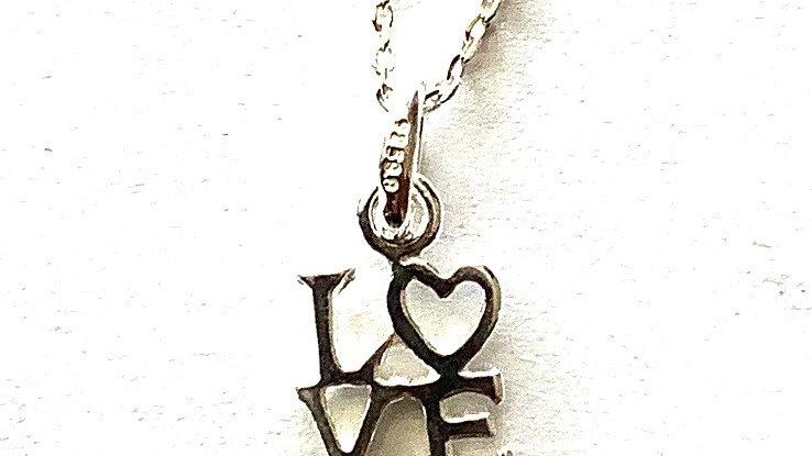Sterling silver LOVE pendant