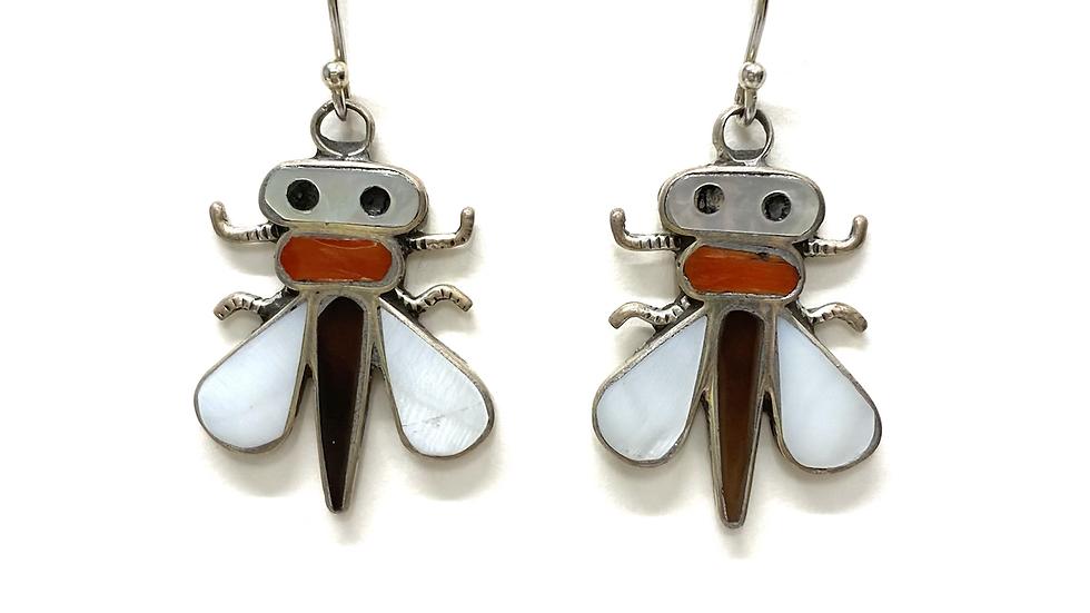 Zuni bug earrings