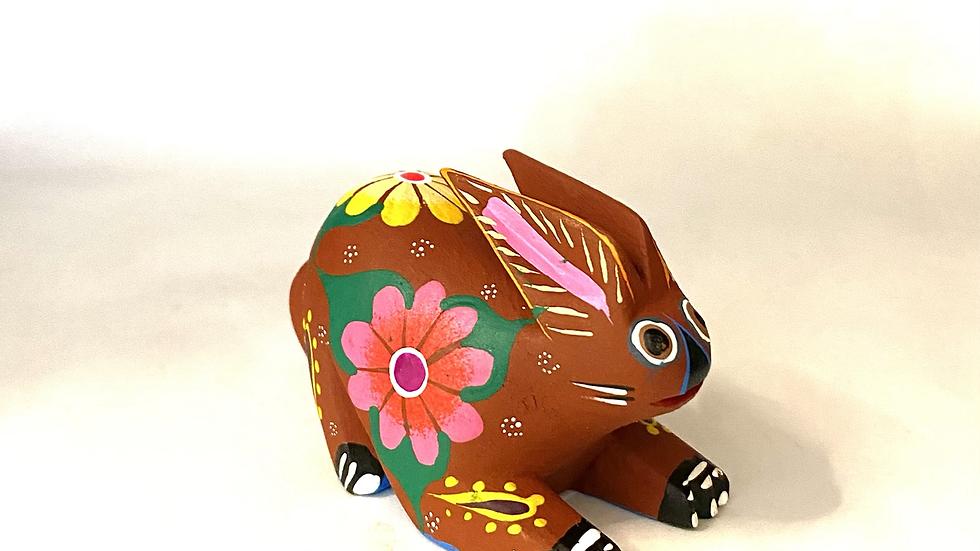 Brown Rabbit Oaxacan Alebrije