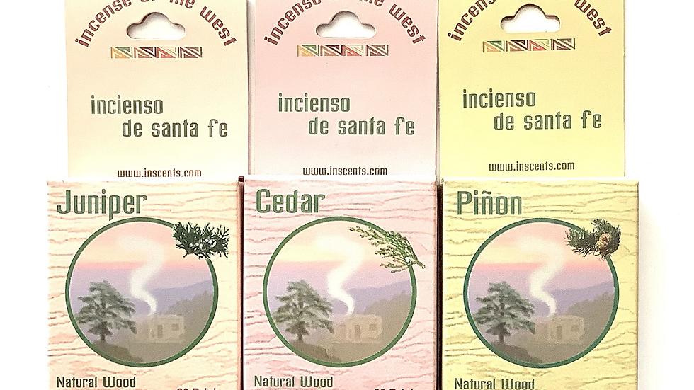 Natural wood incense cedar