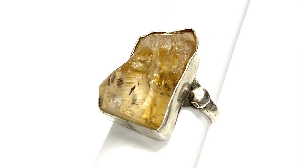 Citrine crystal power ring