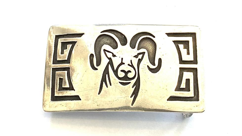 Ram silver buckle