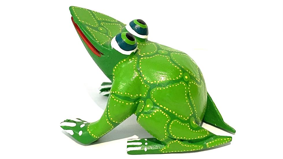 Green frog Oaxacan Alebrije