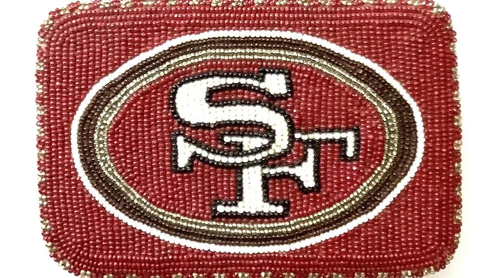 SF Forty Niners belt buckle beaded