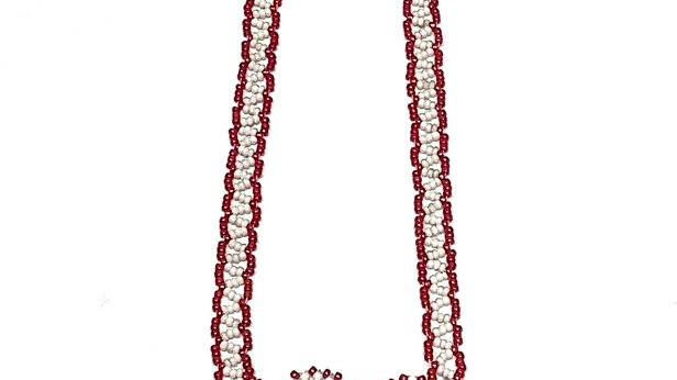 Berry branch beaded necklace