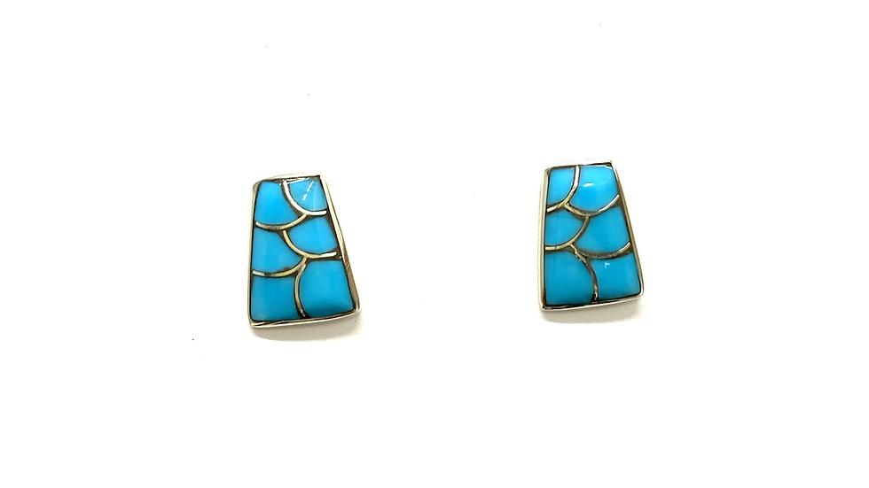 Inlay post earrings
