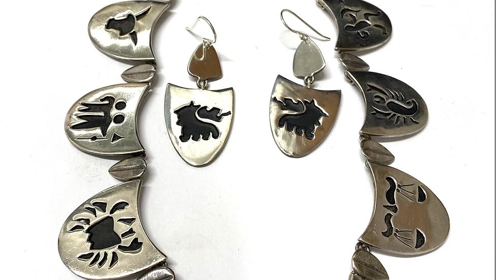 Zodiac sign necklace set