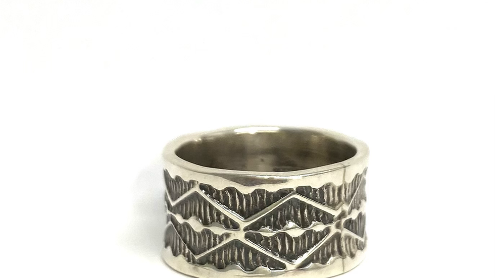 Stamped silver band