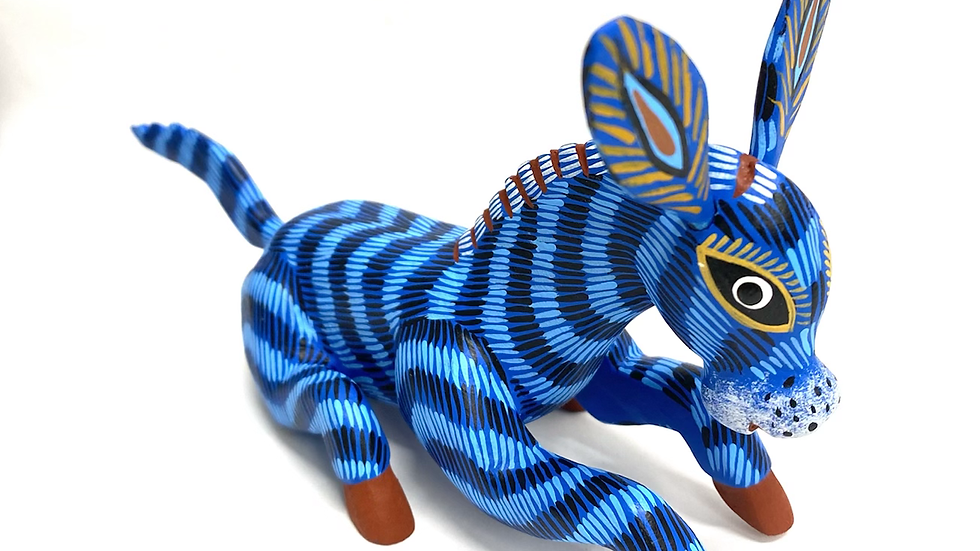 Blue Donkey Oaxacan Alebrije
