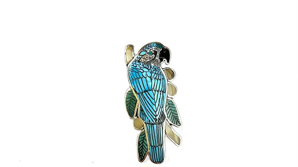 Blue bird Zuni inlay ring