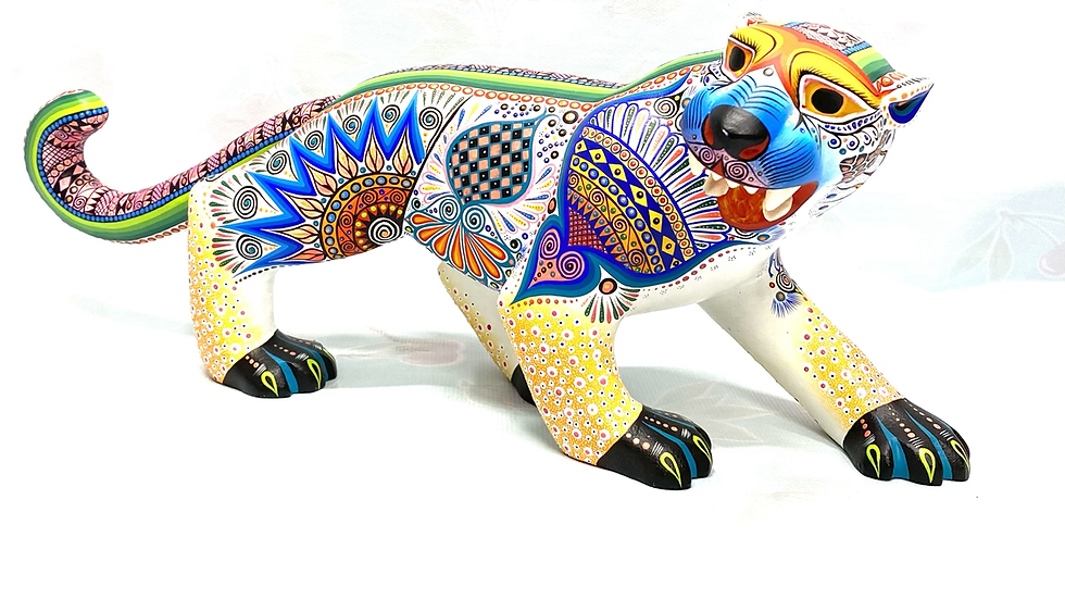 White Jaguar Oaxacan Alebrije