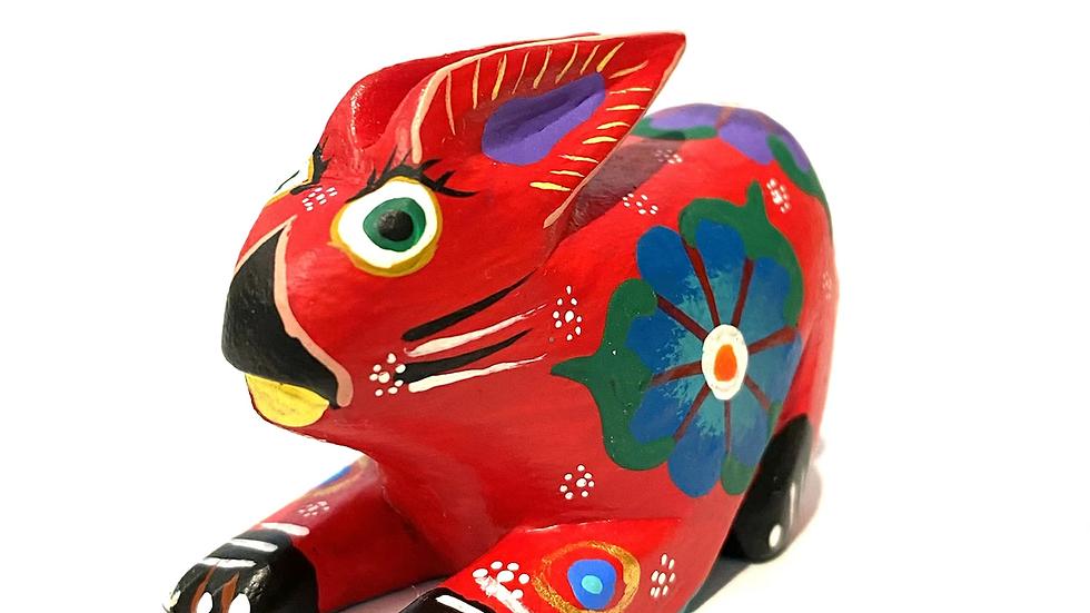 Red rabbit Oaxacan Alebrije