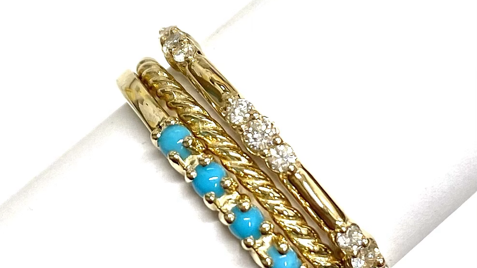 14k stackable diamond ring