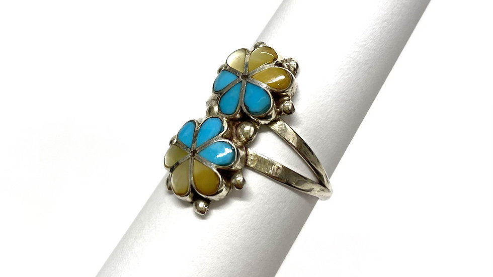 Inlay double flower