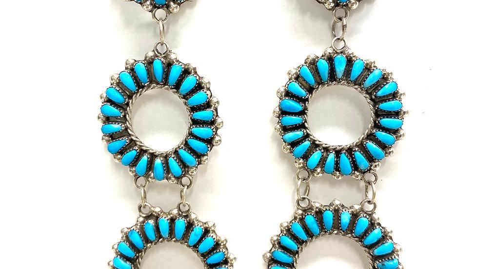 Petit point circles earrings