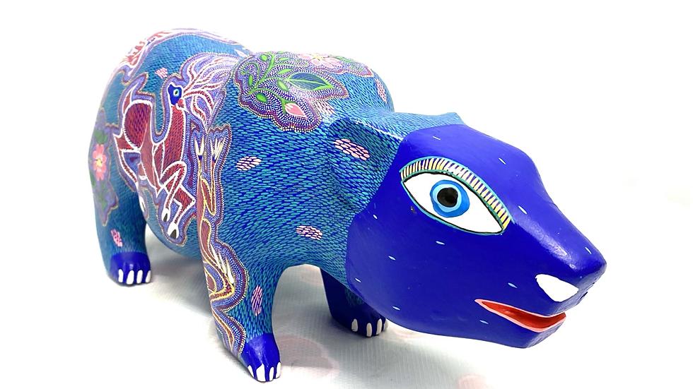 Blue guinea pig Oaxacan Alebrije