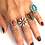 Thumbnail: Coral silver flower ring