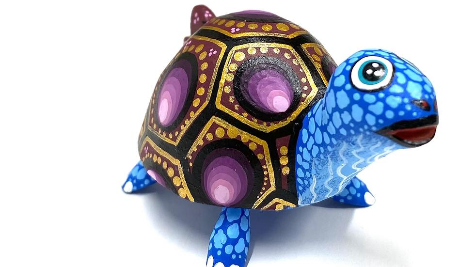 Blue & Purple Turtle Oaxacan Alebrije