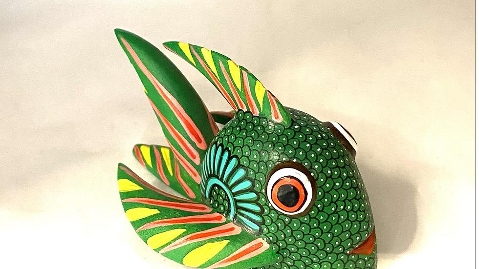 Green Fish Oaxacan Alebrije
