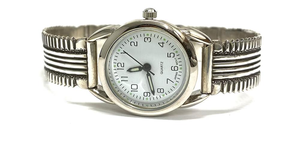 Silver watch bracelet