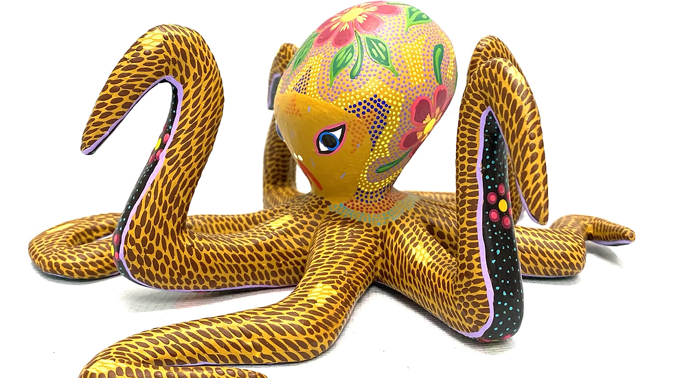 Tan Octopus Oaxacan Alebrije